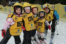 skupinka-děti ve žlutých vestách ahelmách