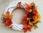 Vyplétaný podzimní věnec. Pro milovníky rychlovek
