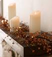 Podzimní světelná girlanda z bobulí
